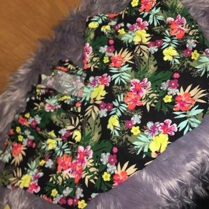Terra and Sky Floral Plus Size Skirt 1X